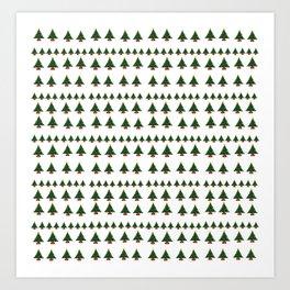 Ugly Sweater Christmas Trees - Pixel Art Art Print