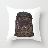 che Throw Pillows featuring che bacca by Heymikel
