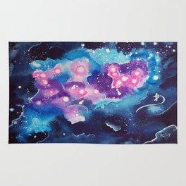 Tiny Astronaut and the Blue Nebula Rug