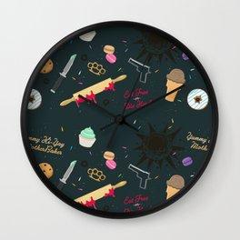 Die Hard Desserts Wall Clock