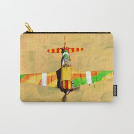 MS 406 fighter airplane poster by Dennis Weber of ShreddyStudio Carry-All Pouch