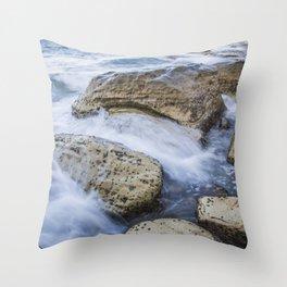Silk Rock Throw Pillow