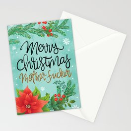 Pretty Sweary Holidays: Merry Christmas Mf'er Stationery Cards
