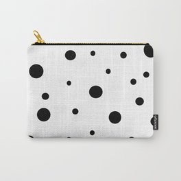 White and Black Polka Dots Carry-All Pouch