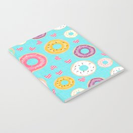 hearts and donuts blue Notebook