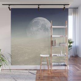 Desert Moon, Sepia Blue Wall Mural