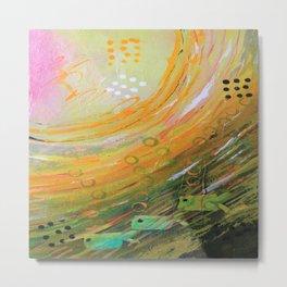 Fish in a Green Sea Metal Print