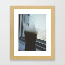 A Glass of Relaxation Framed Art Print