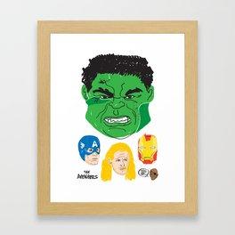 Hulk, Cap, Thor, Iron Man and Fury Framed Art Print