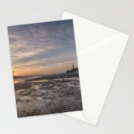 Margate Harbour At Low Tide Stationery Cards