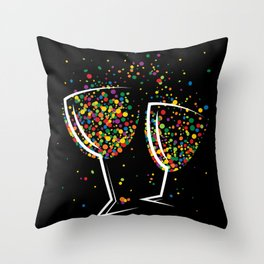 Happy colorful drink Throw Pillow