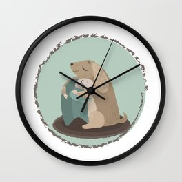 Cute and kind couple Wall Clock