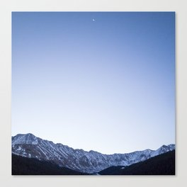 Daylight Moon Ridge Canvas Print