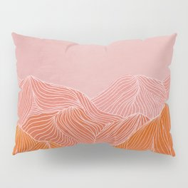 Lines in the mountains - pink II Pillow Sham