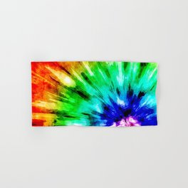 Tie Dye Meets Watercolor Hand & Bath Towel