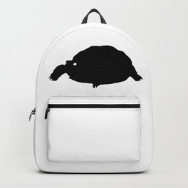 Turtle Black Silhouette Animal Pet Cool Style Backpack