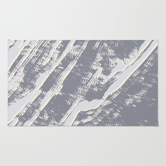 shades of gray marble effect Rug