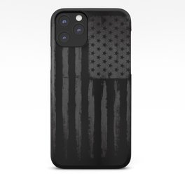 Grey American flag iPhone Case