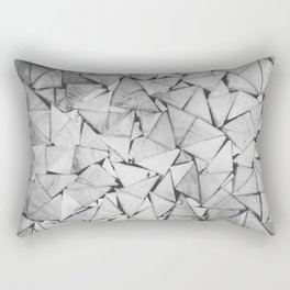 Wooden triangular bars Rectangular Pillow