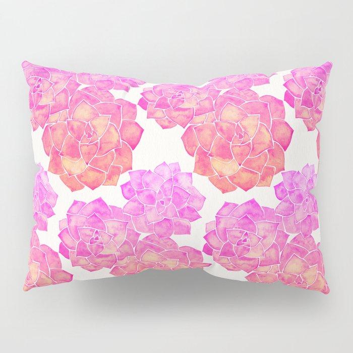 Rosette Succulents – Pink Palette Pillow Sham