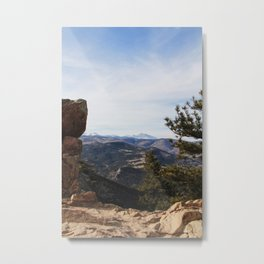 Mountains in Boulder Metal Print