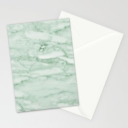 Light Jade Marble Stationery Cards