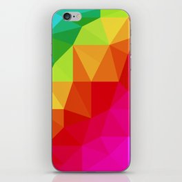 Rainbow Low Poly iPhone Skin