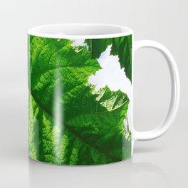 Torn Large Leaf Green Leaf Coffee Mug