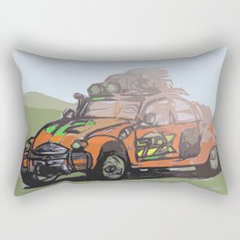 2CV (Orange) Rectangular Pillow