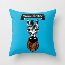 Zebra Beard Throw Pillow
