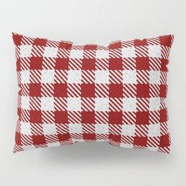 Maroon Buffalo Plaid Pillow Sham