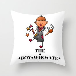 The Boy Who Ate - Ron Weasley Throw Pillow