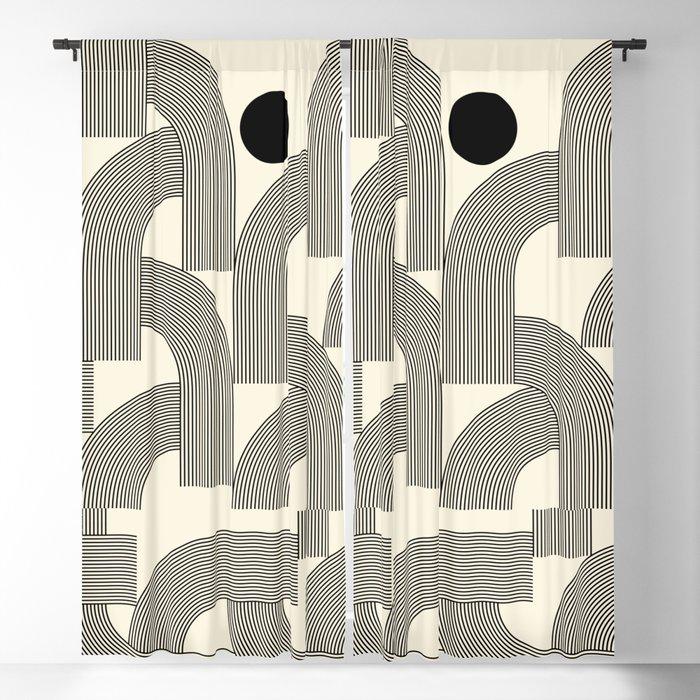 Abstraction_SUNLIGHT_SUNSHINE_LINE_POP_ART_Minimalism_001A Blackout Curtain