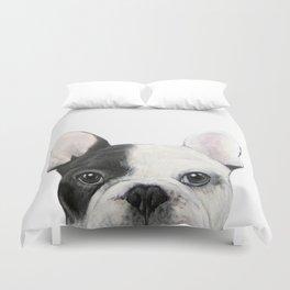 French Bulldog Dog illustration original painting print Duvet Cover