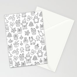 Merry Christmas doodles Stationery Cards