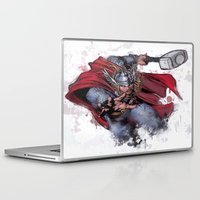 thor Laptop & iPad Skins featuring Thor by Isaak_Rodriguez
