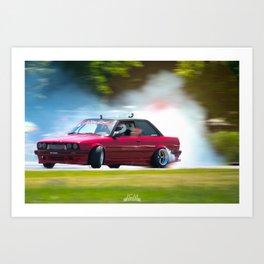 Gridlife 2017 Midwest - Drifting B M W Art Print