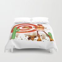 cowboy Duvet Covers featuring Cowboy by Nacho Z. Huizar