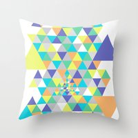 psycho Throw Pillows featuring Psycho by Javier Martinez