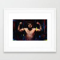 pacman Framed Art Prints featuring Pacman by nicebleed