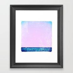 summer sail (lilac) Framed Art Print