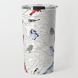 Winter Birds Travel Mug
