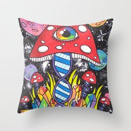 Psychedelic DNA Throw Pillow