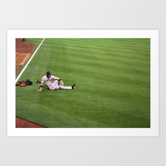 Giants Baseball Art Print