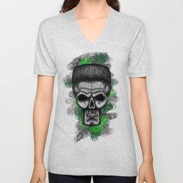Ninja style ErrorFace Skull Unisex V-Neck