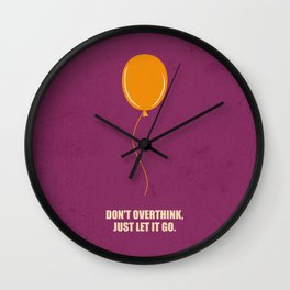 Lab No.4 -Don't Overthink Business Quotes Poster Wall Clock