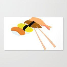 Minimalistic Sushi Design Canvas Print