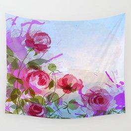 joyful flowers Wall Tapestry