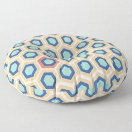 Digital Honeycomb Floor Pillow