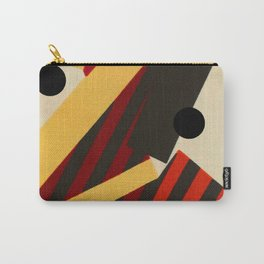 Abstract in Stripes and Dots Carry-All Pouch